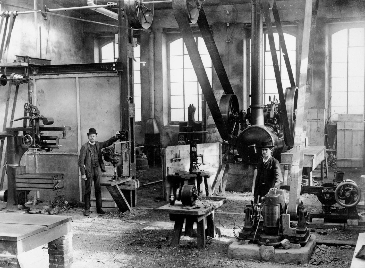 Erste BBC Werkhalle