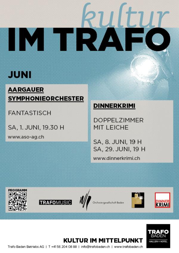 Kulturagenda Juni Trafo Baden