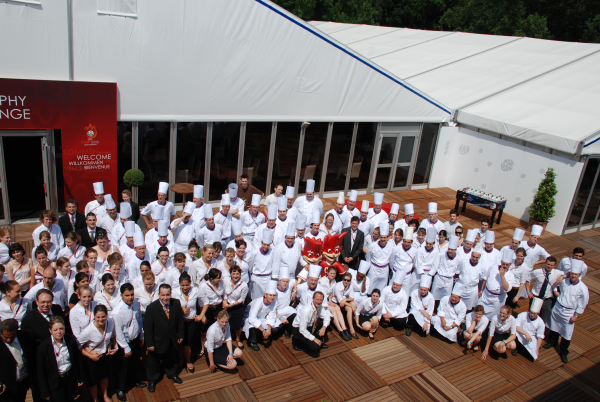 Trafo-Crew während Euro-08-Catering